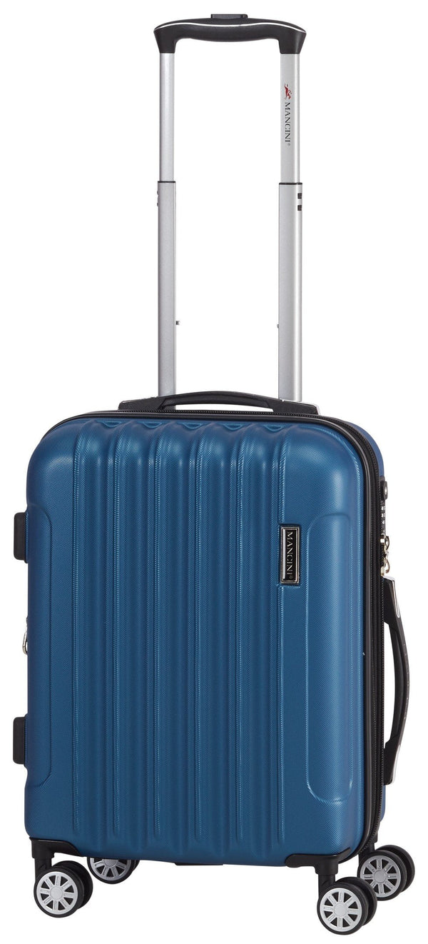 Mancini SANTA CLARA Lightweight Carry-On Spinner Luggage - Metallic Blue