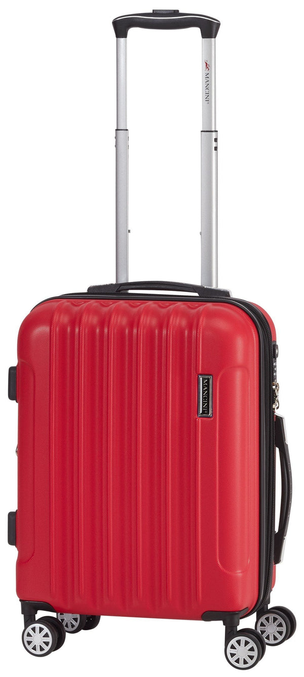 Mancini SANTA CLARA Lightweight Carry-On Spinner Luggage - Red
