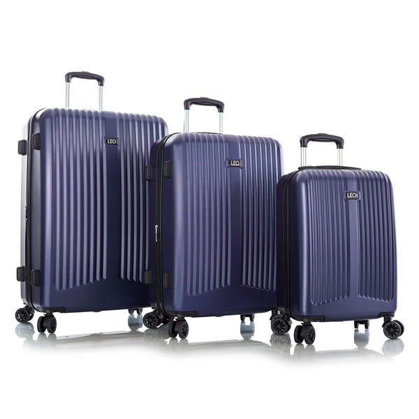 Leo By Heys Levante 3 Piece Hardside Expandable Spinner Luggage Set - Navy