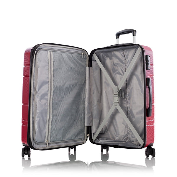Leo By Heys Level 3 Piece Hardside Expandable Spinner Luggage Set