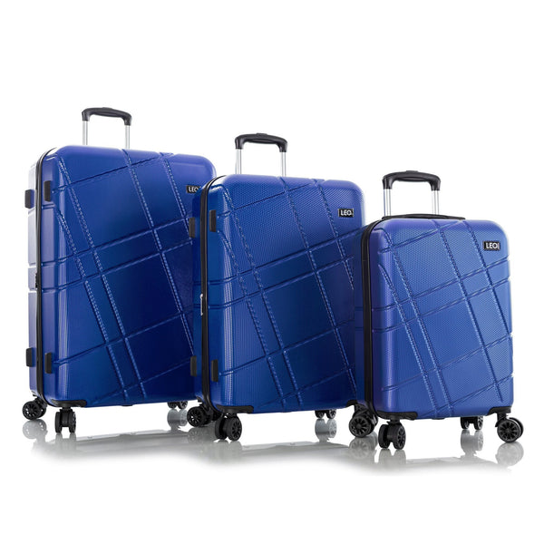 Leo By Heys Level 3 Piece Hardside Expandable Spinner Luggage Set - Cobalt