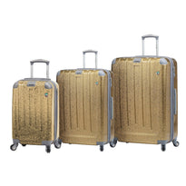 Mia Toro Patricella 3 Piece Expandable Spinner Upright Luggage Set
