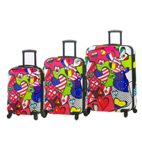 Mia Toro M - International Love 3 Piece Expandable Spinner Upright Luggage Set