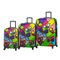 Mia Toro M - Butterflies 3 Piece Expandable Spinner Upright Luggage Set