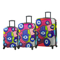 Mia Toro M - Hamsa 3 Piece Expandable Spinner Upright Luggage