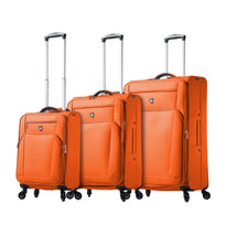 Mia Toro Aria 3 Piece Expandable Spinner Upright Luggage Set