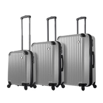 Mia Toro Rotolo 3 Piece Expandable Spinner Upright Luggage Set