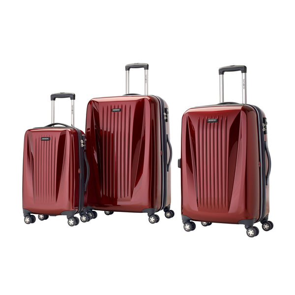 Samsonite Omni Lite 2.0 - 3 Piece Hardside Spinner Luggage Set - Dark Red