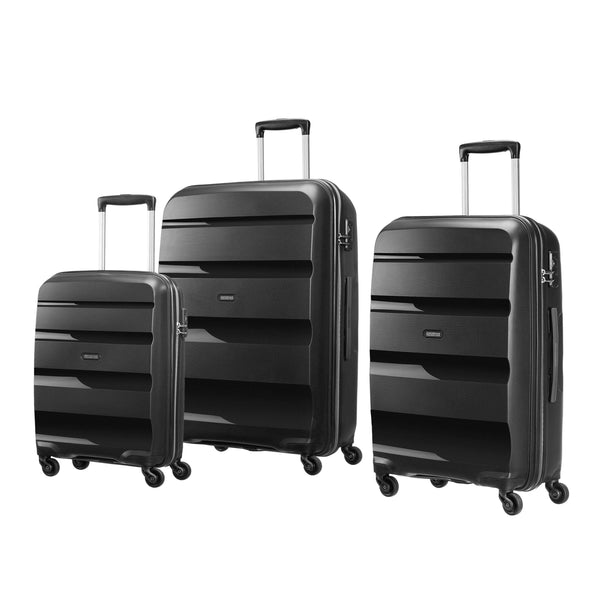 American Tourister Bon Air Collection 3 Piece Spinner Expandable Luggage Set - Black
