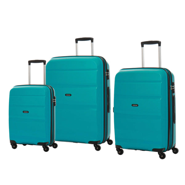 American Tourister Bon Air Collection 3 Piece Spinner Expandable Luggage Set - Deep Turquoise