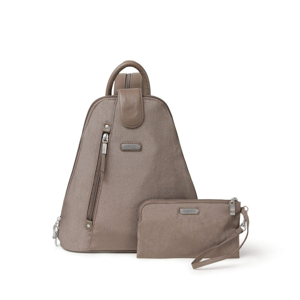 Baggallini Metro Backpack With RFID Phone Wristlet - Portobello Shimmer