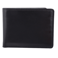 Bugatti Milled Vegetable Tanned Leather Men's Billfold Center Wing Wallet (RFID Blocking)