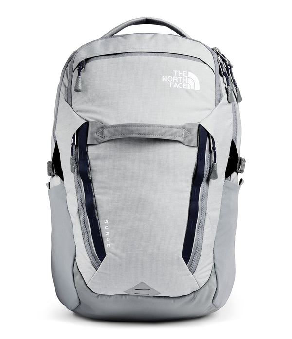 The North Face Surge Backpack - High Rise Grey Light Heather/TNF Navy