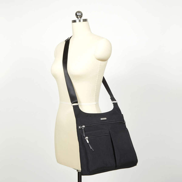 Baggallini On Track Zip Crossbody With RFID Phone Wristlet