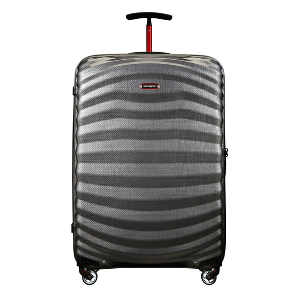Samsonite Black Label Lite-Shock Sport 28 Inch Spinner Large Luggage - Eclipse Grey/Red