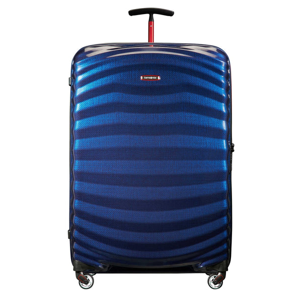 Samsonite Black Label Lite-Shock Sport 30 Inch Spinner Large Luggage - Nautical Blue/Red