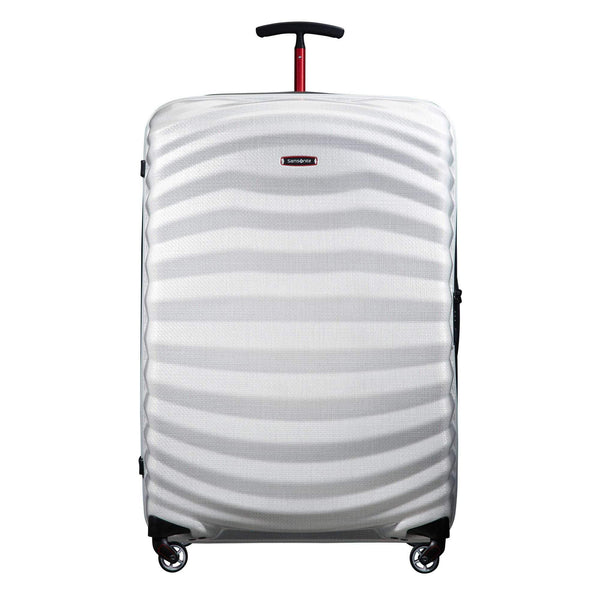 Samsonite Black Label Lite-Shock Sport 30 Inch Spinner Large Luggage - Off White/Red