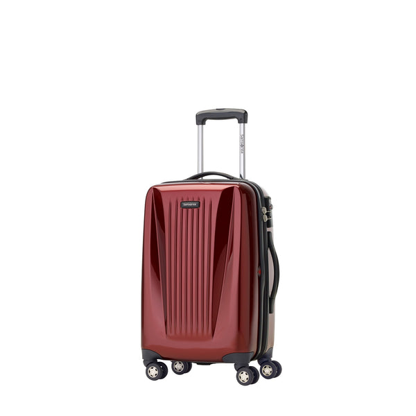 "Samsonite Omni Lite 2.0 - 21.5"" Hardside Wide Body Carry-On Spinner Luggage - Dark Red"