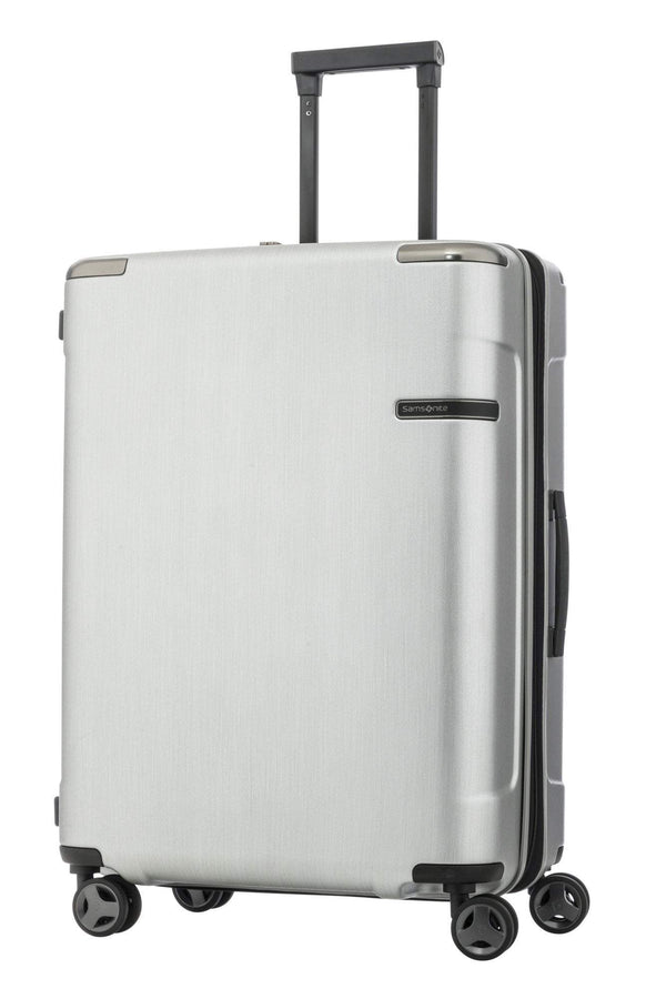 Samsonite Evoa Spinner Medium Expandable Luggage - Brushed Silver