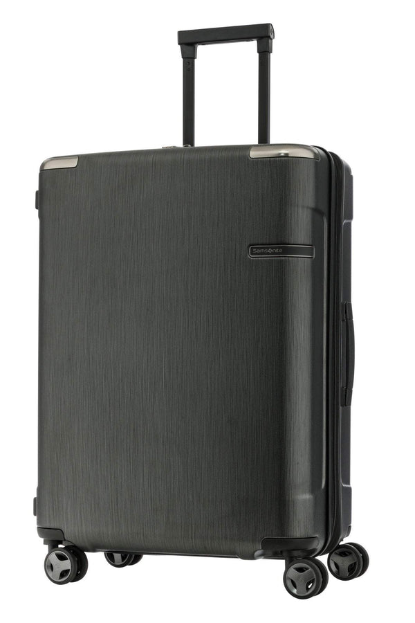 Samsonite Evoa Spinner Medium Expandable Luggage - Brushed Black