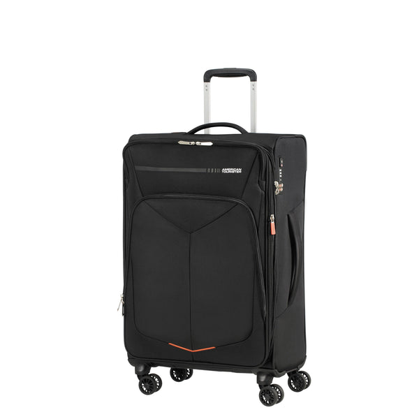 American Tourister Fly Light Spinner Medium Expandable Luggage - Black