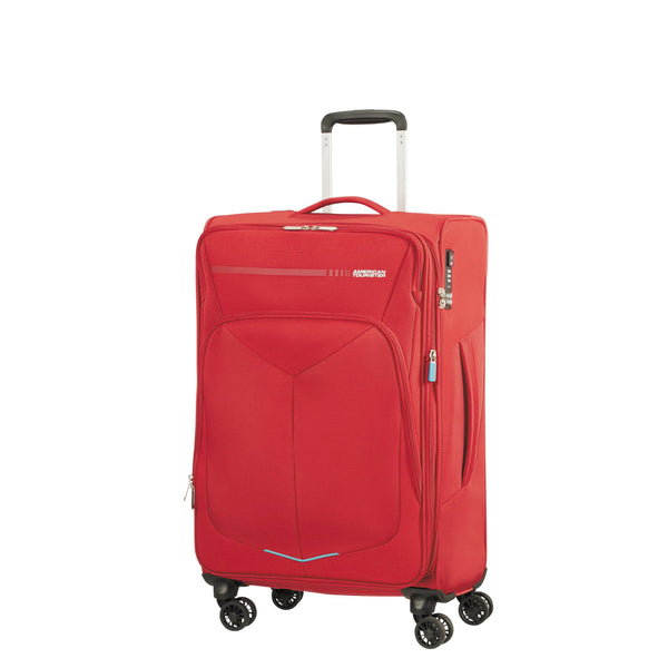 American Tourister Fly Light Spinner Medium Expandable Luggage - Red