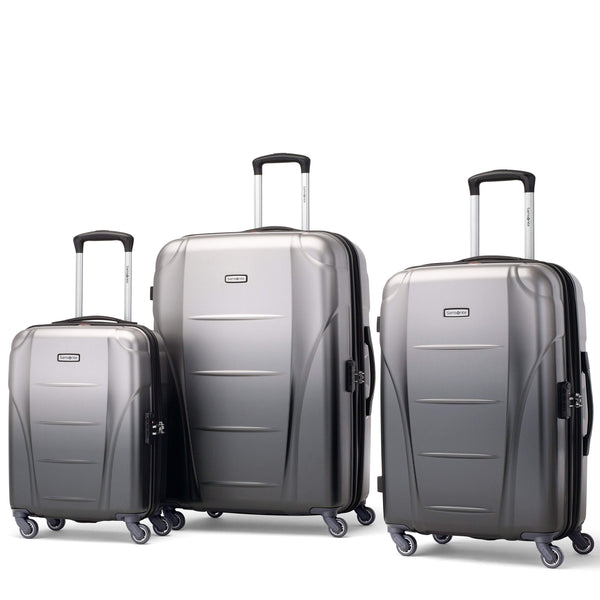 Samsonite Winfield NXT 3 Piece Spinner Expandable Luggage Set - Silver/Charcoal