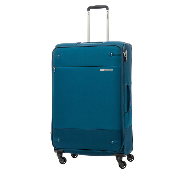 Samsonite Base Boost Spinner Large Luggage - Limited Edition:  Petrol Blue Stripes