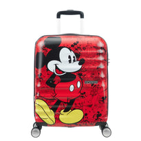 American Tourister Disney Wavebreaker Spinner Carry-On Luggage - Mickey Comics Red
