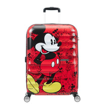 American Tourister Disney Wavebreaker Spinner Medium Luggage - Mickey Comics Red