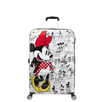 American Tourister Disney Wavebreaker Spinner Large Luggage - Minnie Comics White