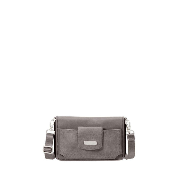 Baggallini RFID Phone Wallet Crossbody - Sterling Shimmer