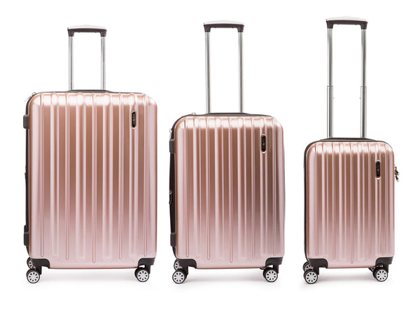 Explorer Classic Collection 3 Piece Expandable Spinner Luggage Set - Rose Gold