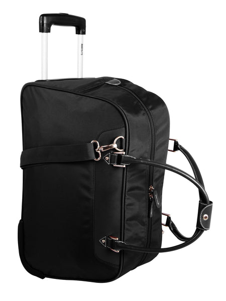 Roots Polyester Nylon/PU Duffle on Wheels