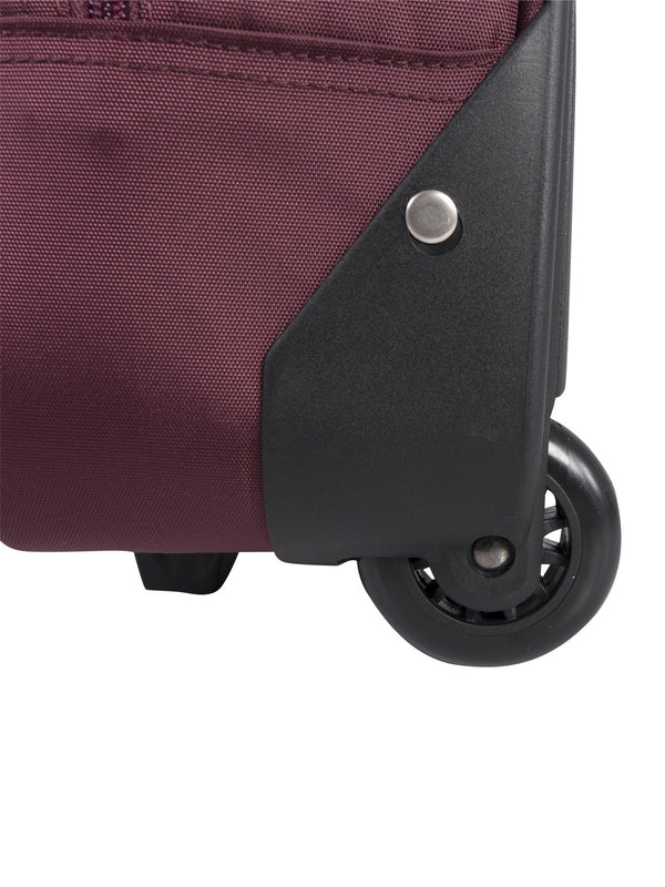 Roots Polyester Nylon/PU Slim Computer Business Case on Wheels