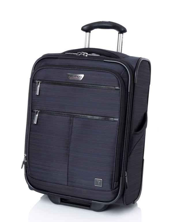 Ricardo Beverly Hills Santa Barbara 3.0 Collections 20 Inch Carry-On Expandable Upright Luggage - Navy