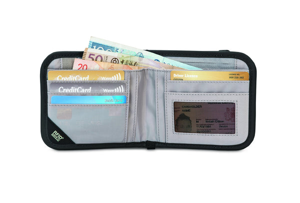 Pacsafe RFIDsafe™ V100 Anti-theft RFID Blocking Bi-fold Wallet