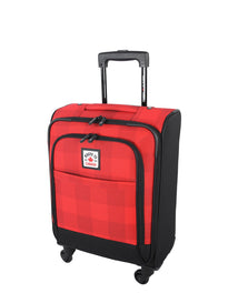 Roots Poly Buffalo Plaid Carry-On Softside Spinner Luggage
