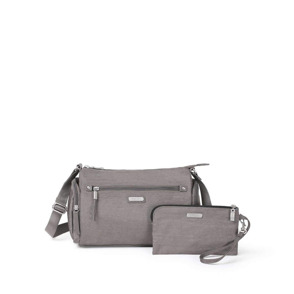 Baggallini Road Trip Hobo With RFID Phone Wristlet - Sterling Shimmer