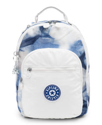 Kipling Seoul Small Metallic Tablet Backpack - Tie Dye Blue Lacquer