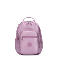 Kipling Seoul Small Metallic Tablet Backpack - Metallic Berry