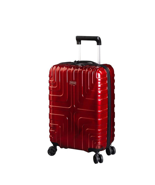 Jump Crossline 22 Inch Expandable Carry-On Luggage - Red