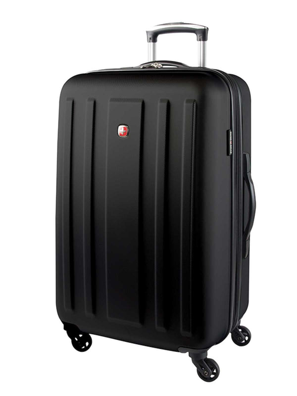 Swiss Gear ABS La Sarinne Lite 28 Inch Moulded Hardside Expandable Spinner Luggage - Black