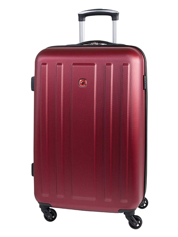 Swiss Gear ABS La Sarinne Lite 28 Inch Moulded Hardside Expandable Spinner Luggage - Oxblood