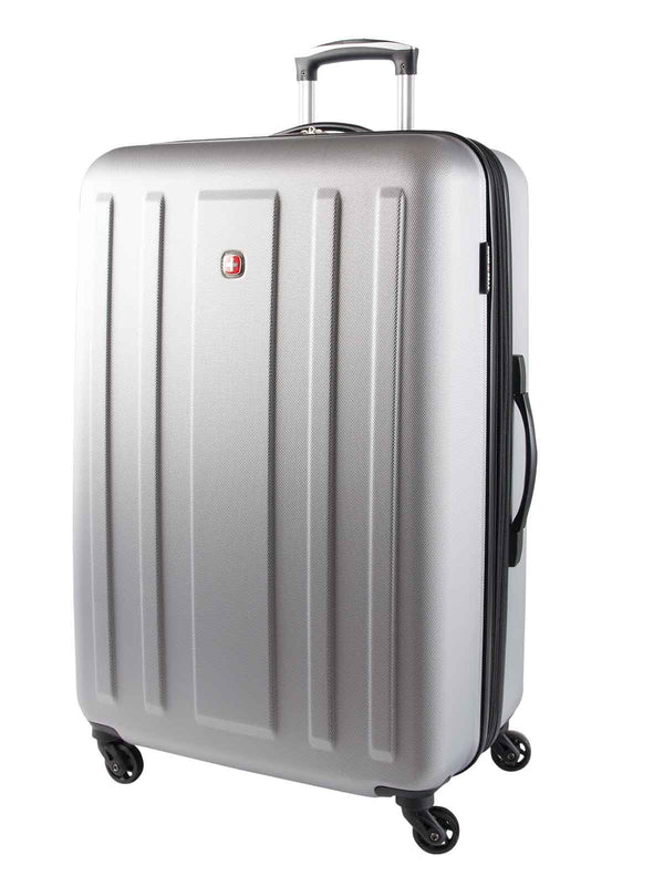 Swiss Gear ABS La Sarinne Lite 28 Inch Moulded Hardside Expandable Spinner Luggage - Silver