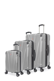 Swiss Gear Global Traveller Collection 3 Piece Upright Hardside 8-Wheel Spinner Luggage Set