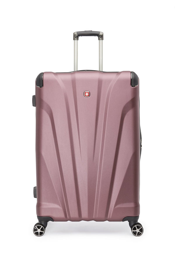 Swiss Gear Global Traveller Collection 28 Inch Upright Hardside 8-Wheel Spinner Luggage - Dusty Rose