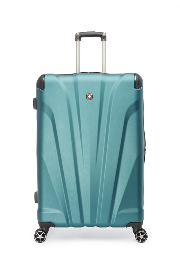 Swiss Gear Global Traveller Collection 28 Inch Upright Hardside 8-Wheel Spinner Luggage - Teal