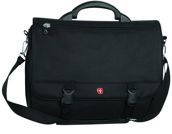Swiss Gear Polyester Expandable Laptop Messenger Portfolio 15.6 Inches - Black
