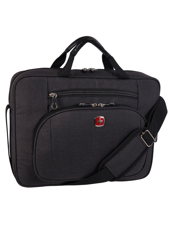 Swiss Gear Top Load Laptop Case with RFID Blocking Pocket - Gray